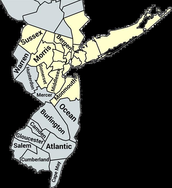 Pro-tek Service Areas